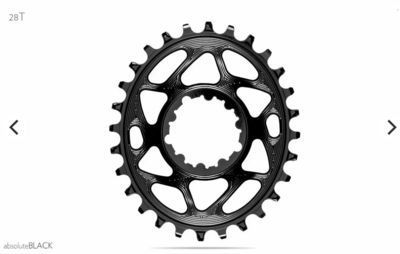 OVAL DIRECT MOUNT CHAINRING FOR SRAM CRANKS 6MM OFFSET