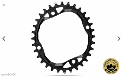 ABSOLUTEBLACK OVAL 104 & 64BCD TRACTION CHAINRING