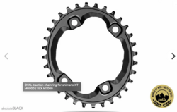 OVAL TRACTION CHAINRING FOR SHIMANO XT M8000 / SLX M7000